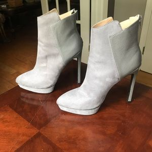 Gray heeled boots!